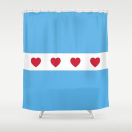 I Love Chicago Shower Curtain