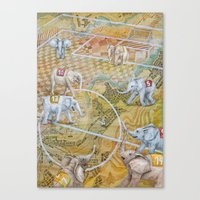 football Canvas Prints featuring Football by Ruta13