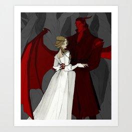 The Demon and the Countess Art Print