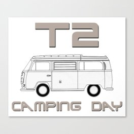 T2: Camping Day Canvas Print