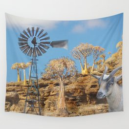 Wind Punk Golden Quivers Wall Tapestry