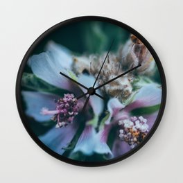 Melancholic flowers Wall Clock
