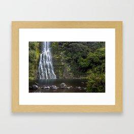 NEW ZEALAND ROADTRIP WATERFALL NO.3 Framed Art Print