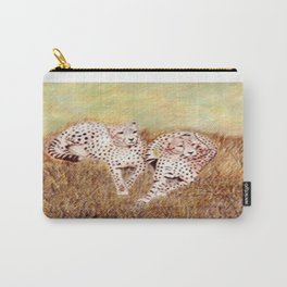 Resting Cheetahs Carry-All Pouch