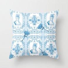 Marie-Antoinette Monogram (Aqua) Throw Pillow