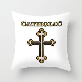 Catholic Cross Throw Pillow