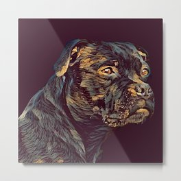 THE STAFFY 001 - The Dark Animal Series Metal Print