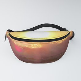 Golden Glow and Crashing Waves Fanny Pack