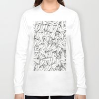 planes Long Sleeve T-shirts featuring Paper planes by GrandeDuc