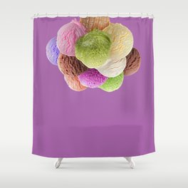 Ice Cream Interior Design Food Poster Minimal Art Print Lavender Home Decoration Shower Curtain