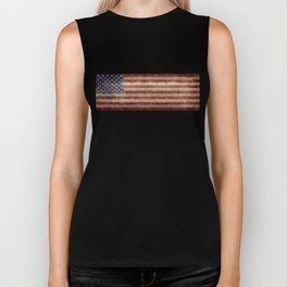 USA Stars and Stripes Banner - Imagine this as the focal point at your next banquette! Biker Tank