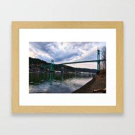 St. Johns Bridge Framed Art Print