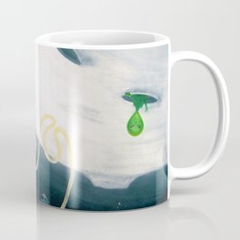 Spaceman Moon Alien and Stars Coffee Mug