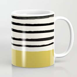 Mustard Yellow & Stripes Coffee Mug