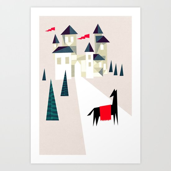 The horse and his castle Art Print