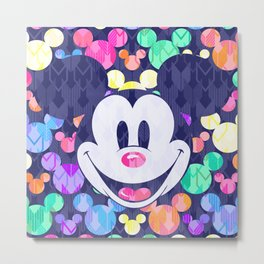 Mickey Mouse Head on Arrows Metal Print
