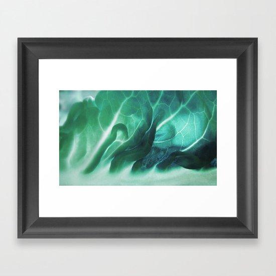 Aqua Plant (Art Of Food) Framed Art Print