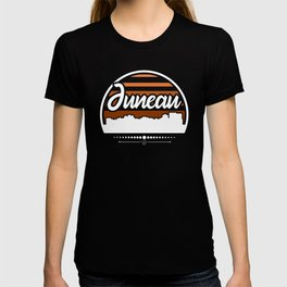 Retro Juneau Alaska Sunset Skyline T-shirt