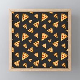 Cool and fun pizza slices pattern Framed Mini Art Print