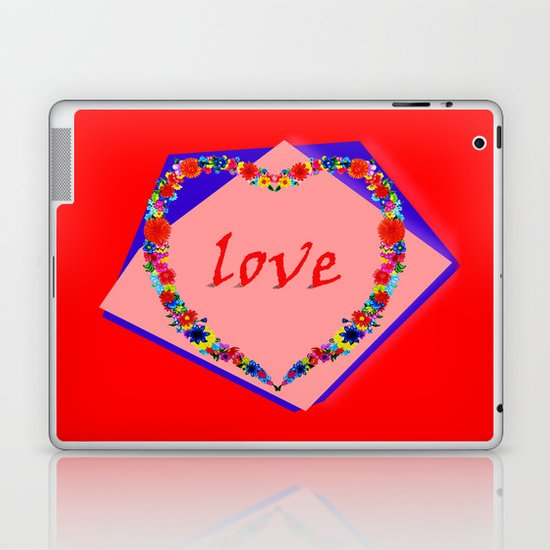 heart of flowers Laptop & iPad Skin