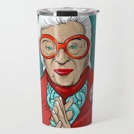 Iris Apfel Fashion Icon Travel Mug