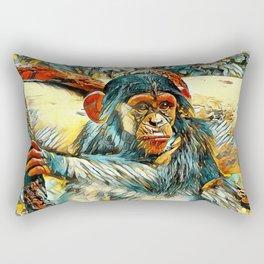 AnimalArt_Chimpanzee_20170905_by_JAMColorsSpecial Rectangular Pillow