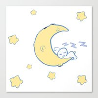 cryaotic Canvas Prints featuring sleepy Cry by Kat+Kyle