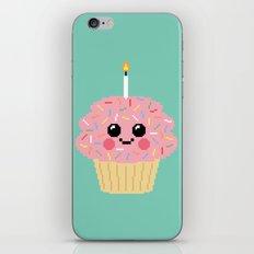 Happy Pixel Cupcake iPhone & iPod Skin