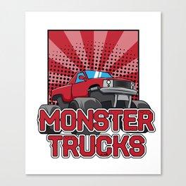 Monster truck Trucks Canvas Print