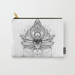 Lotus flower + All seeing eye. Carry-All Pouch