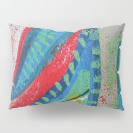 Abstract landscape - bright, eye-opening, vibrant color piece Pillow Sham