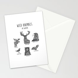 Wild animals in Sweden 2 Stationery Cards