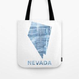 Nevada map outline Light steel blue blurred wash drawing design Tote Bag