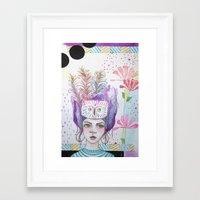 arya stark Framed Art Prints featuring Arya by ChristyAnne