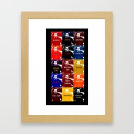 A Warholian Interpretation of the Southeastern Conference Framed Art Print