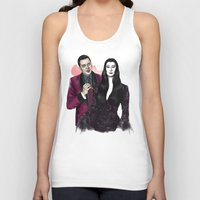 selena gomez Tank Tops featuring Gomez & Morticia by Myrtle Quillamor