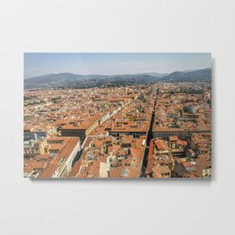 Overlooking Florence, from Giotto's Bell Tower Metal Print