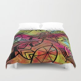 Crazy Leaves  Duvet Cover