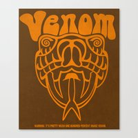 anchorman Canvas Prints featuring ANCHORMAN - Venom  by John Medbury (LAZY J Studios)