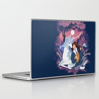 the last unicorn Laptop & iPad Skins featuring Last Unicorn + Dan Avidan by Stephanie Kao