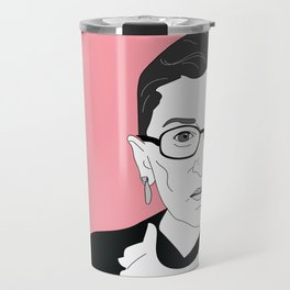 Ruth Bader Ginsburg, pink Travel Mug