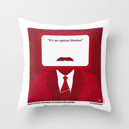 No278 My Anchorman Ron Burgundy minimal movie poster Throw Pillow