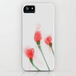Red Buds iPhone Case