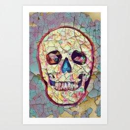 Aged Death - Vintage Skull Art Art Print