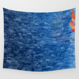 Swimming Alone Wall Tapestry