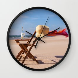 Windy Beach Day Wall Clock