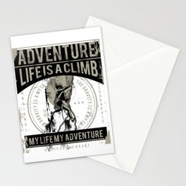 Adventure - Life Is A Climb - Rock Climb Stationery Cards