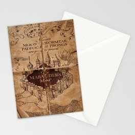 Marauders Map Stationery Cards