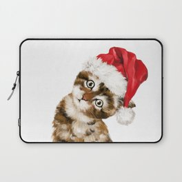 Christmas Baby Cat Laptop Sleeve