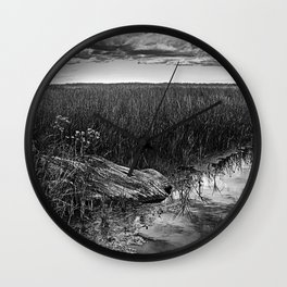 Wood In The Marsh Wall Clock